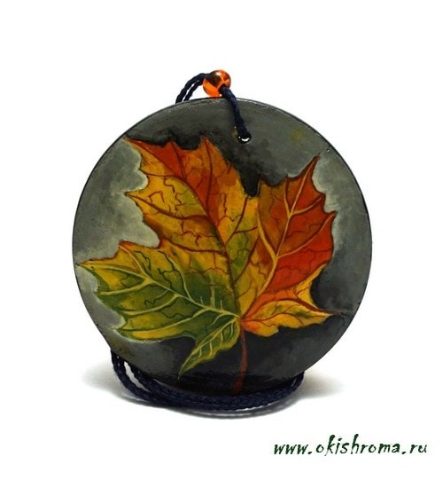 Pendant «Autumn leaf»